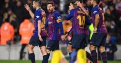 اسپینش فٹبال لیگ: بارسلونا بدستور ٹاپ پوزیشن پر براجمان
