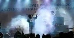 انڈونیشیا میں لائیو کنسرٹ کے دوران سونامی کی تباہی کی ویڈیو وائرل