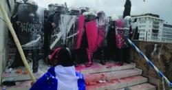 """ایتھنز کے سینٹر """"سنداغما"""" میں مقدونیا کے نام پر بہت بڑا احتجاجی مظاہرہ"""