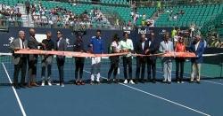 فلوریڈا میں سٹارز ٹینس پلیئرز نے انٹرنیشنل ٹینس کورٹ کا افتتاح کر دیا