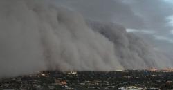 امریکی ریاست نیواڈا میں مٹی کا طوفان