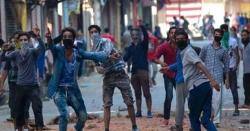 مقبوضہ کشمیر میں بھارتی فوج کی بربریت جاری، نہتے مظاہرین پر تشدد، متعدد گرفتار