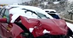 اسپین: برفباری نے ڈرائیورز کو مشکل میں ڈال دیا