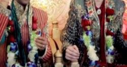 نہ زمین پھٹی نہ آسمان گرا، پاکستا ن میں دو لڑکوں کی آپس میں شادی ،ایک سرخ جوڑے میں ملبوس تو دوسرے کے گلے میں ۔۔!