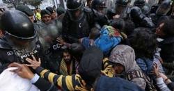 ایکواڈور میں وکی لیکس کے بانی جولین اسانج کے حق میں مظاہرہ، پولیس کا لاٹھی چارج