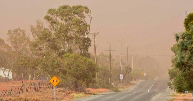 آسٹریلیا میں مٹی کے طوفان سے لوگ خوفزدہ