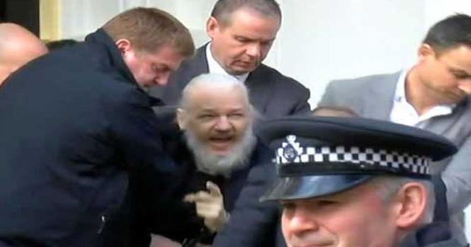 سیاسی پناہ ختم، جولین اسانج 7 سال بعد لندن سے گرفتار