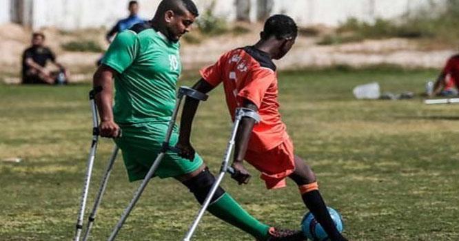 معذور فلسطینی فٹ بال ٹیموں کے درمیان ٹورنامنٹ کا آغاز
