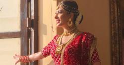 انتہائی مختصر عروسی لباس میں مہوش حیات نے تصویر سوشل میڈیا پر ڈال دی