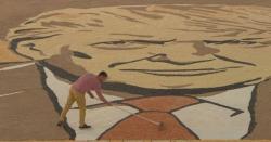 کوسوو فنکار کا ٹرمپ سے محبت کا انوکھا انداز