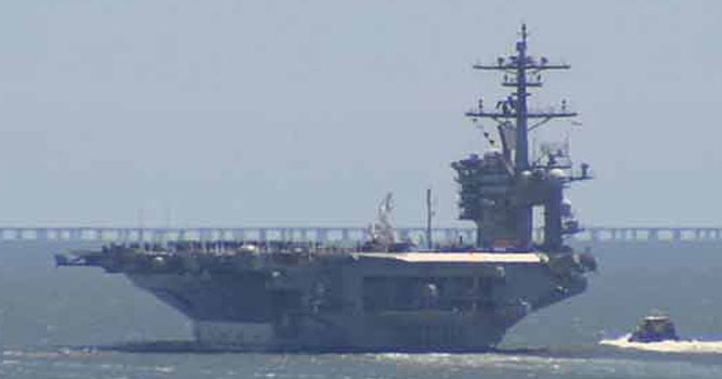 ایران کی نگرانی: مشرق وسطی میں امریکی جنگی بحری بیڑا تعینات