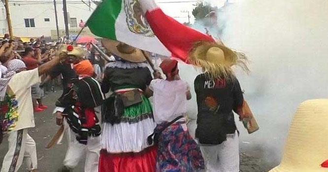 میکسیکومیں انوکھا میدانِ جنگ سج گیا