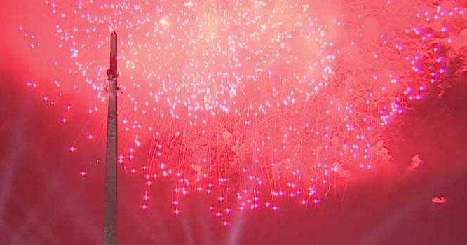 ماسکو، وکٹری ڈے کے موقع پر شاندار آتش بازی