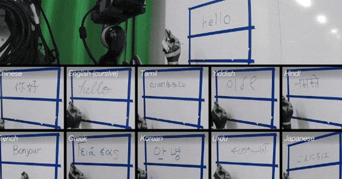امریکا:لکھنے اور اسکیچنگ کرنے والا روبوٹ تیار