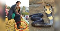 عید کے تحفے کے طور پر وزیر اعظم عمران خان کیلئے خطرناک اژدھے کی کھال کی چپلیں
