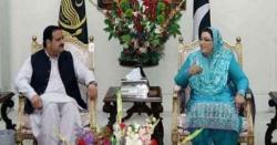 وزیراعلیٰ پنجاب سردار عثمان بزدارسے وزیراعظم کی معاون خصوصی برائے اطلاعات ڈاکٹر فردوس عاشق اعوان کی ملاقات