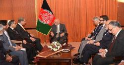 شاہ محمود قریشی سے افغان صدر کی ملاقات، افغان مفاہمتی عمل پر بات چیت