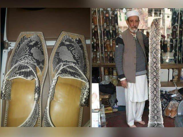 پشاور میں دکان دار کو وزیر اعظم کے لیے اژدھا کی کھال کی چپلیں بنانا مہنگا پڑگیا