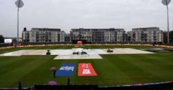 ورلڈ کپ کے فائنل میچ سے پہلے بارش شروع ہو گئی ہے