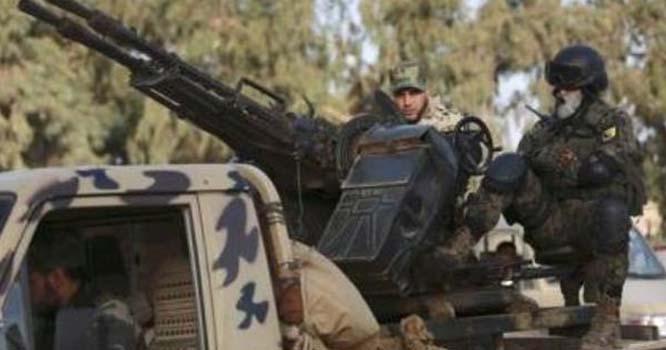 لیبیا میں فوج کا سابق جنرل کے ٹھکانوں پر حملہ