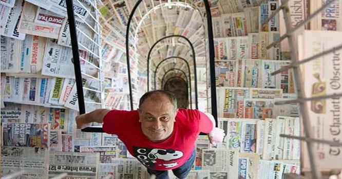 اطالوی شہری نے دنیابھر سے 1444 اخبارات جمع کر لئے