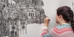صرف ایک قلم سے 'تصوری دنیا' کے شاہکار فن پارے