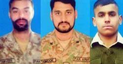 لائن آف کنٹرول پرشہیدہونےو الے پاکستانی جوانوں کی تفصیلات جاری