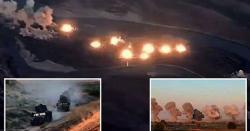 امریکی جنگی جہازوں نے عراق میں داعش کے زیر قبضہ جزیرے پر بم گرا دیئے
