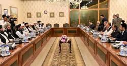 افغان طالبان وفد کی شاہ محمود سے ملاقات، امن عمل مذاکرات کی بحالی پر اتفاق