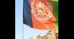 افغان سفیر نے پشاور میں افغانستان کا جھنڈا لہرا دیا