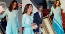 برطانوی شاہی جوڑے کی پاکستان آمد کے موقع پر کیٹ مڈلٹن کے لباس کی ایک خاص بات جسے پاکستانیوں نے نوٹ کر لیا