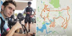 سائیکل سواروں نے 200 کلومیٹرسائیکل چلاکربکری کا خاکہ بنا ڈالا