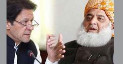 فضل الرحمن نے عمران خان کے استعفے کے مطالبے پر یوٹرن لے لیا