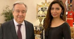 اقوام متحدہ کے سیکرٹری جنرل کی ماہرہ خان سے ملاقات