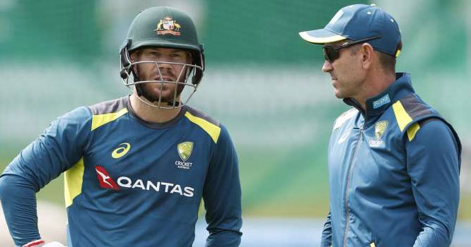 وارنرکی کپتان بننے پرپابندی ہے لیکن۔۔۔۔آسٹریلوی کرکٹ ٹیم کے کوچ نے بڑااعلان کردیا