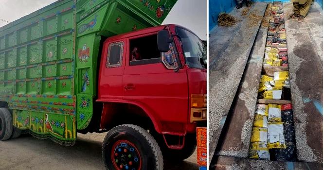 افغانستان سے پاکستان آنے والے 10وہیلر ٹرک سے کتنے ٹن چرس برآمد ، مالیت کتنے کروڑنکلی