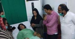 پی ٹی آئی کی خاتون رکن اسمبلی  کوحادثہ۔۔تشویشناک حالت میں ہسپتال منتقل