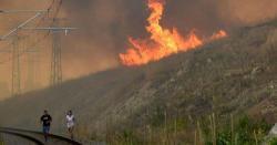 یورپی ملک کے جنگلات میںلگنے والی آگ  نے ایک وسیع رقبے کو اپنی لپیٹ میں لے لیا