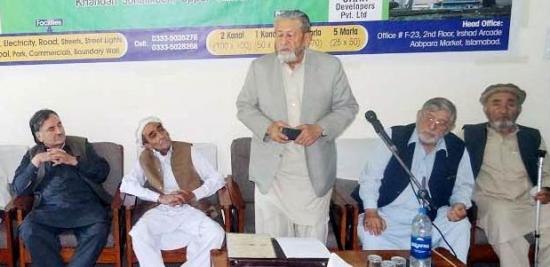 میر افضل خان کا سابق گورنر و ڈپٹی چیف ایگزیکٹو پیر کرم علی شاہ کی وفات پر گہرے دکھ کا اظہار