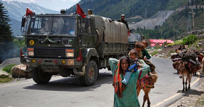 چینی سرحد سے ملحقہ بھارتی ریاست اترا کھنڈ کے نزدیک بھی چینی فوج تعینات