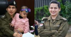 ڈیوٹی میں بیٹی کو ساتھ لے کر جانے کی وجہ سے مشہور ہونے والی قوم کی بہادر  بیٹی پولیس آفیسر عائشہ بٹ کون ہیں؟