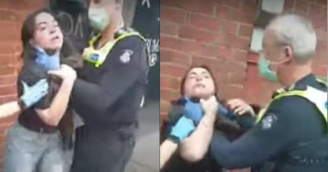 پولیس اہلکاروحشی پن پراترآیا،ماسک نہ پہننے پرلڑکی سے غیراخلاقی حرکت،عوام کی شدیدتنقید