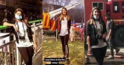 حفیظ سنٹر میں آتشزدگی کا واقعہ، خاتون بلاگر نے بے حسی کی حد کر دی، سامنے کھڑی ہو کیا شرمناک کام کرتی رہی ؟ جانیں