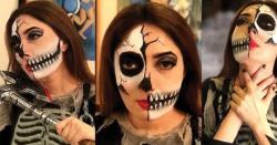 ہیلووین پر شرمیلا فاروقی خوفنا ک روپ کے ساتھ سامنے آگئیں