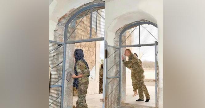 27سال بعدمسجد میں اذان : آذربائیجان  کے صدر نے درو دیوار چوم لیے