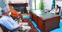 وزیراعظم عمران خان سے ڈاکٹرفیصل سلطان اوروزیر صحت پنجاب ڈاکٹر یاسمین راشد کی ملاقات