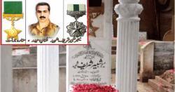 آرمی چیف کا بہادرسپوت میجرشبیر شریف شہید کے49ویں یوم شہادت پر خراج عقیدت، جنرل قمرجاوید باجوہ کی جانب سے شہید کے مزار پر پھول رکھے گئے