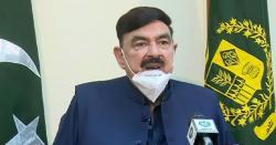 شیخ رشید احمد کی میڈیا سے گفتگو کے دوران ایک شخص کی نعرے بازی