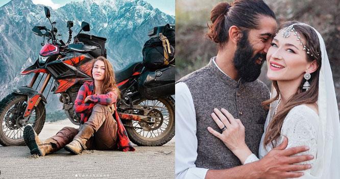 کینیڈین بائیکرروزی گیبرئیل نے پاکستانی شہری سے شادی کرلی