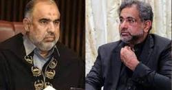 شاہد خاقان عباسی اورسپیکر قومی اسمبلی میں بد ترین جھڑپ
